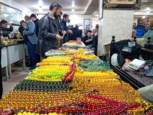 درخشش نگین ها و یاقوت ها در بازار سنتی سقز