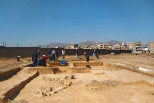 گزارش تصویری// کاوش در محوطه باستانی مکریان سقز